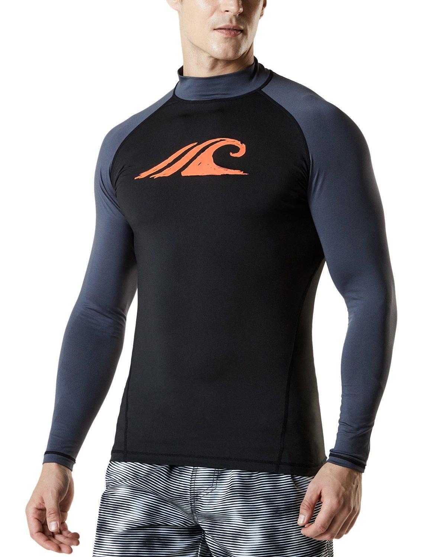 Tesla Mens UPF 50 UV Protection Swim Shirt Tee Short//Long Sleeve Rashguard Top